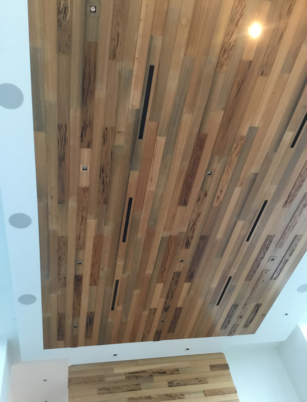 Reclaimed cypress ceiling - Palm City