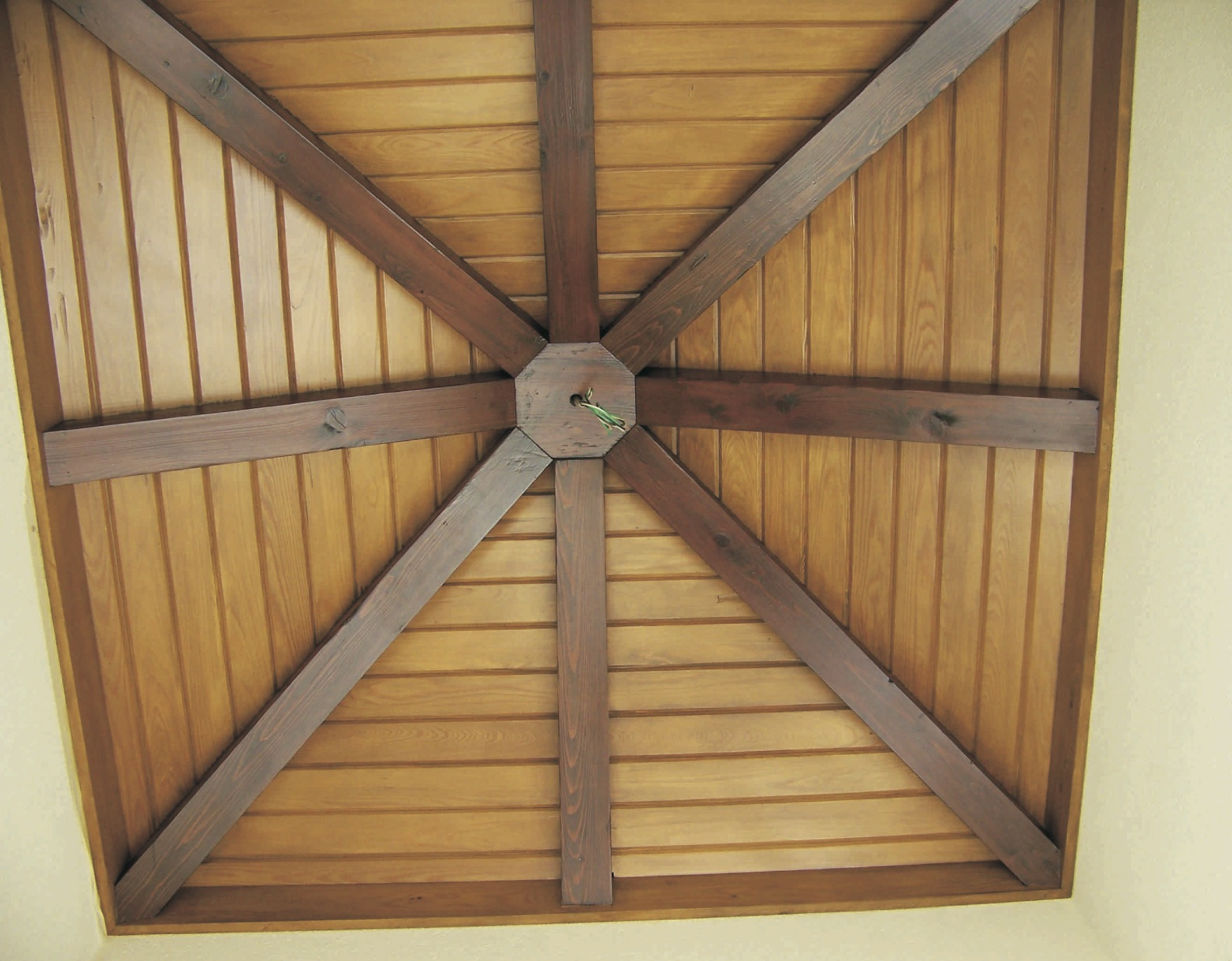 Two-tone ceiling finishing (installation/woodwork done by others) -<br />Nassau, Bahamas (Lyford Cay)
