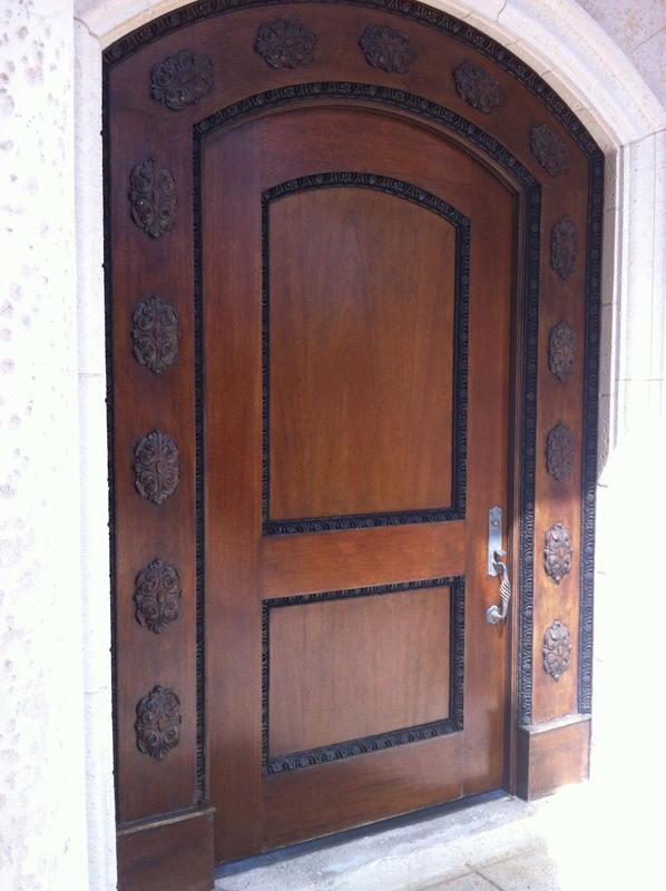 Mahogany entry door - Stuart