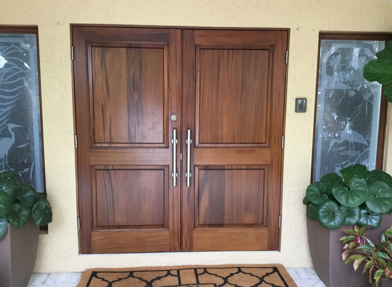 Mahogany entry doors - Stuart
