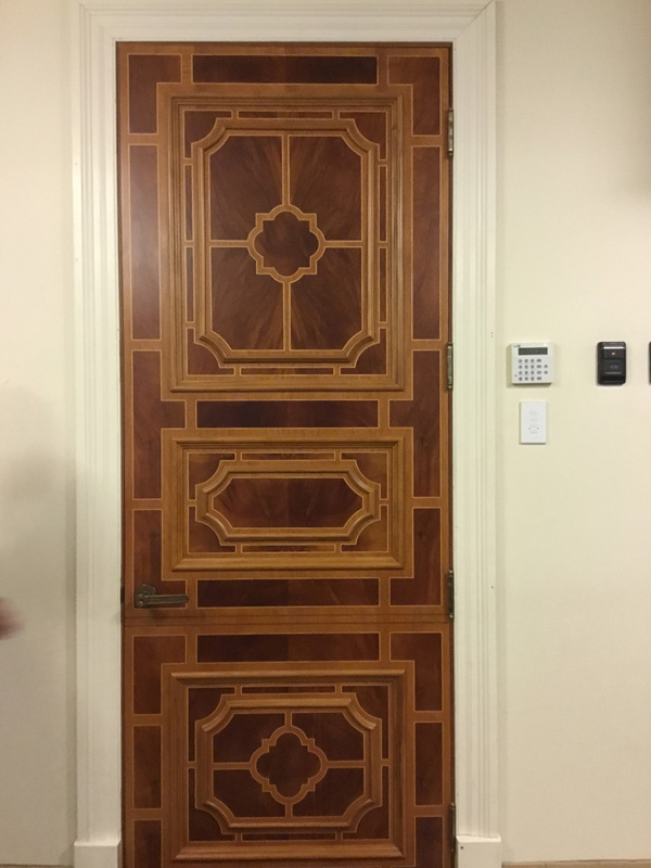 Sketch face - inlaid door - Manalapan