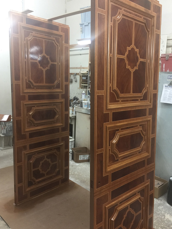 Sketch face doors in process - shop