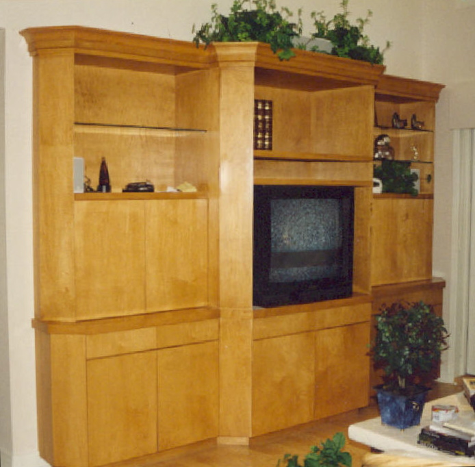 Maple TV/audio, display, storage cabinet - Sailfish Point