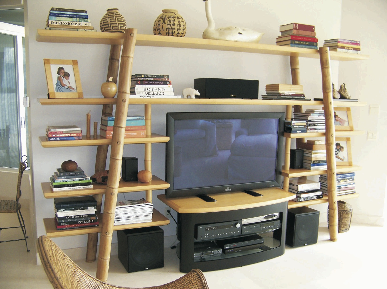 Bamboo TV and display unit - Sailfish Point