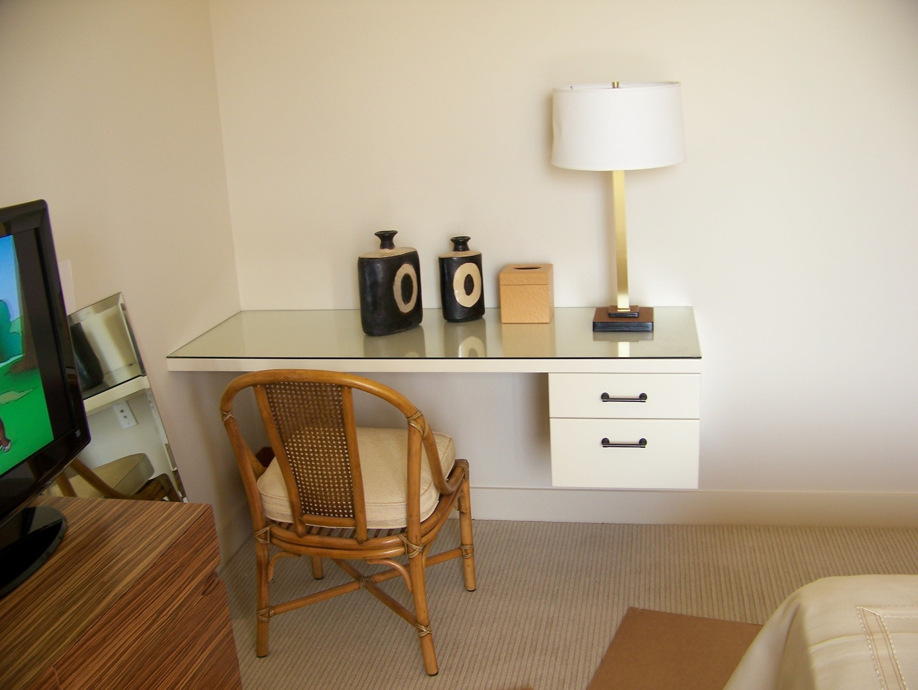 Floating Master Bedroom Desk - Palm Beach