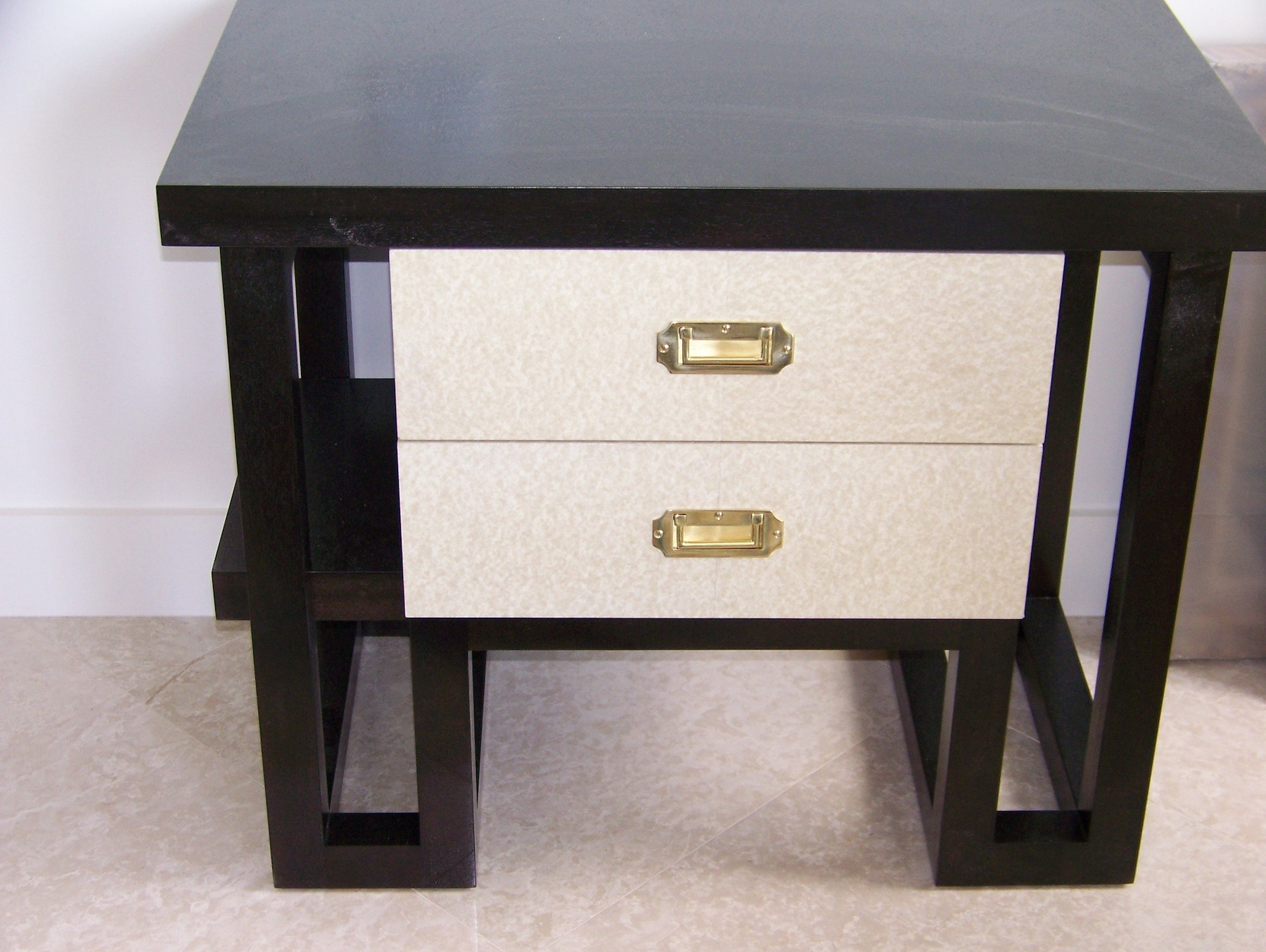 Lacquer parchment end table - New York City