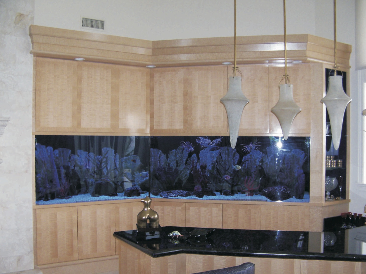 Sycamore with pattern - great room aquarium/bar area -<br />Sailfish Point
